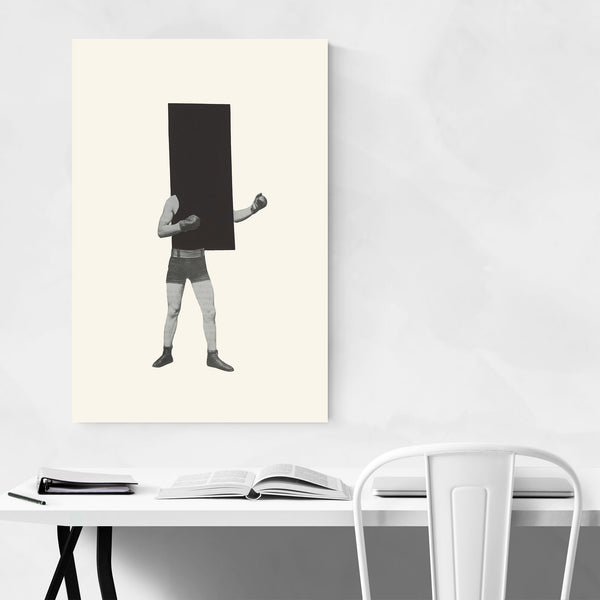 Minimal Geometric Boxing Collage Art Print