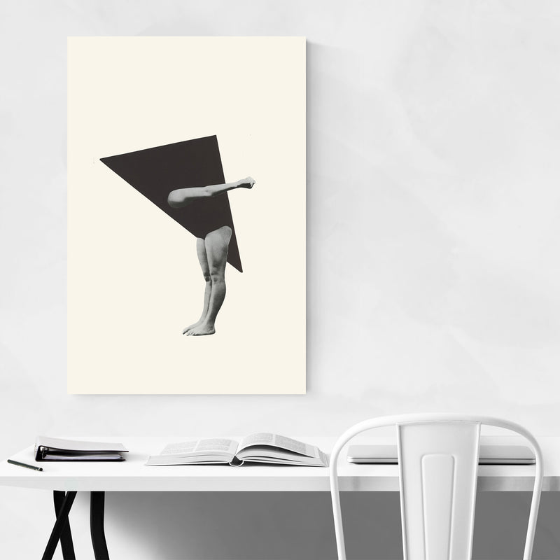 Triangle Geometric Woman Collage Canvas Art Print