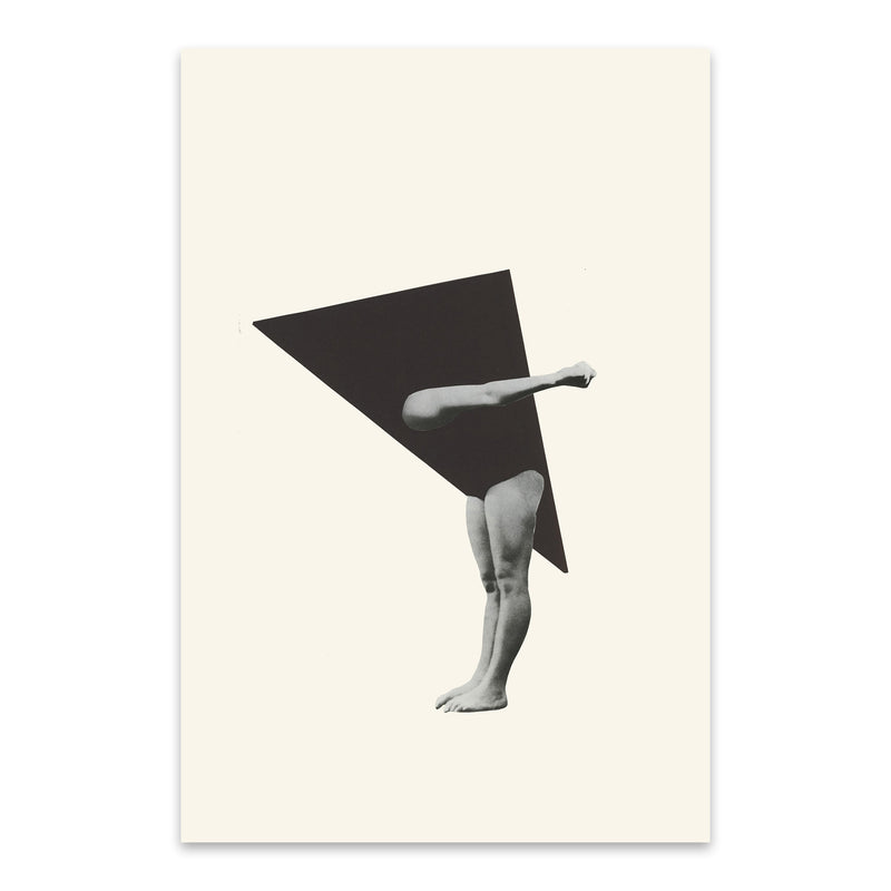 Triangle Geometric Woman Collage Metal Art Print