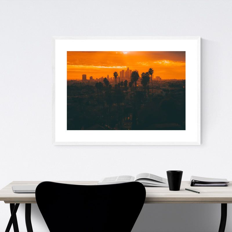 Palm Trees Los Angeles Nature Framed Art Print