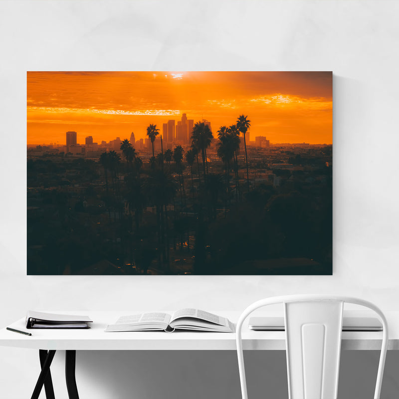 Palm Trees Los Angeles Nature Canvas Art Print