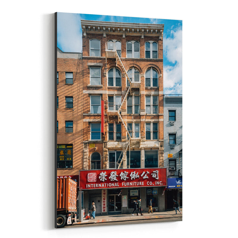Chinatown Manhattan New York NYC Canvas Art Print