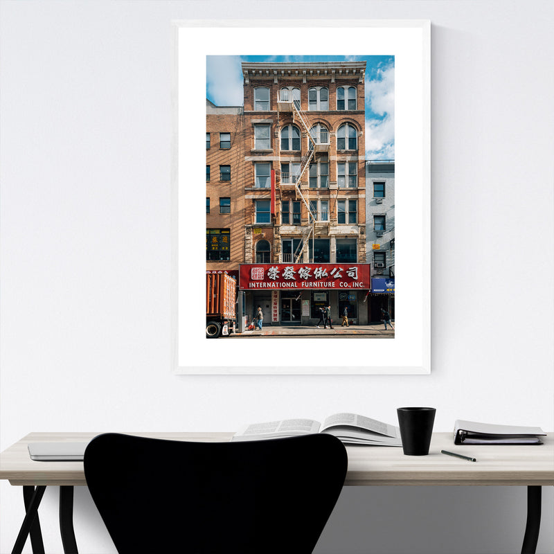 Chinatown Manhattan New York NYC Framed Art Print