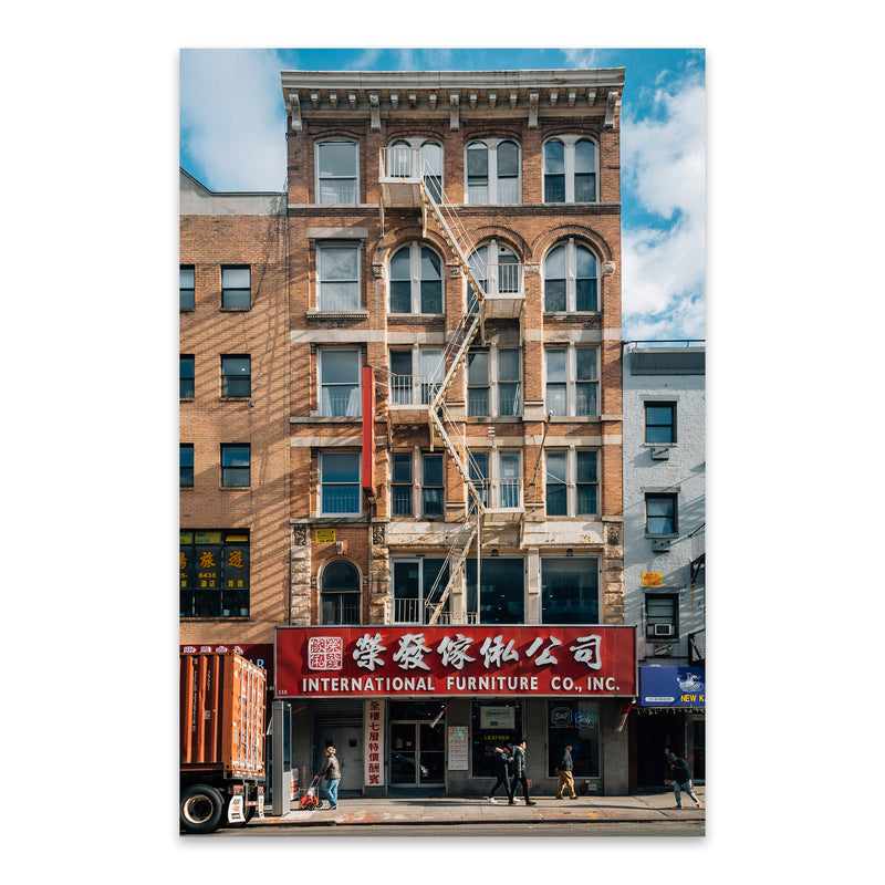 Chinatown Manhattan New York NYC Metal Art Print