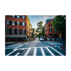 Boston Beacon Hill City Urban Art Print