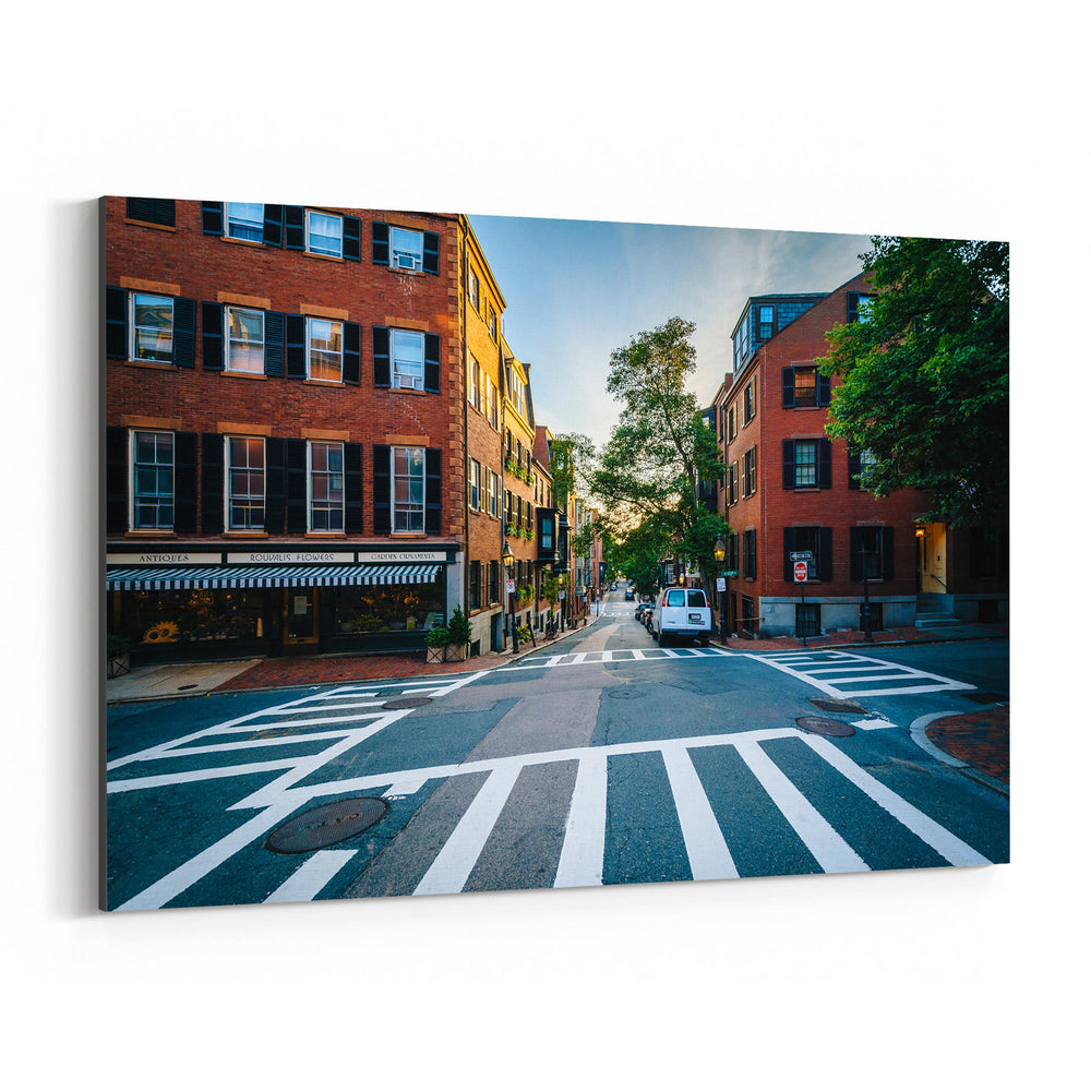 Boston Beacon Hill City Urban Canvas Art Print