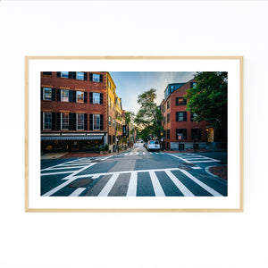 Boston Beacon Hill City Urban Framed Art Print