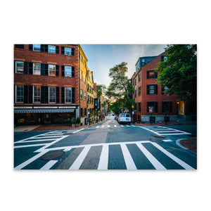 Boston Beacon Hill City Urban Metal Art Print