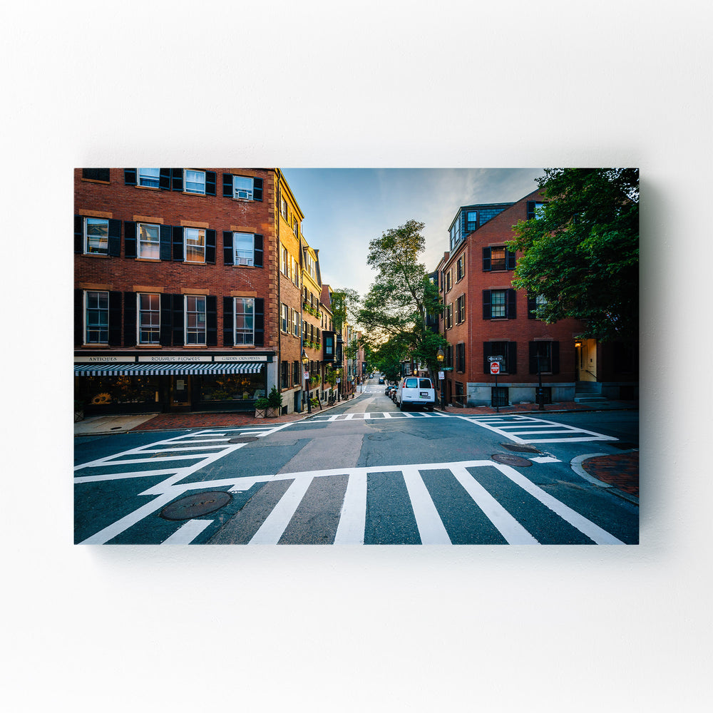 Boston Beacon Hill City Urban Mounted Art Print