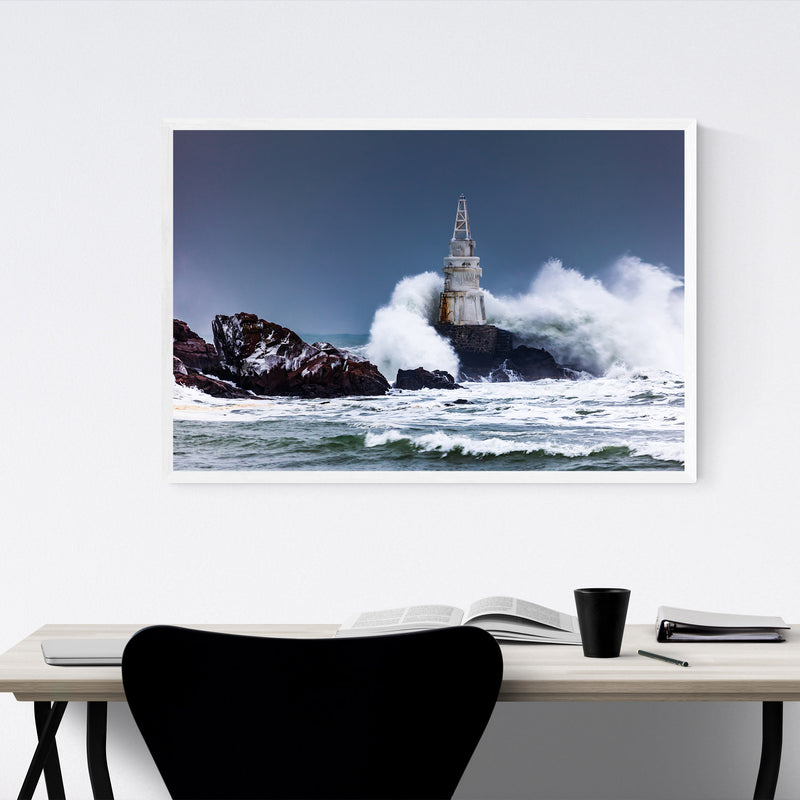 Sinemorets Bulgaria Lighthouse Framed Art Print