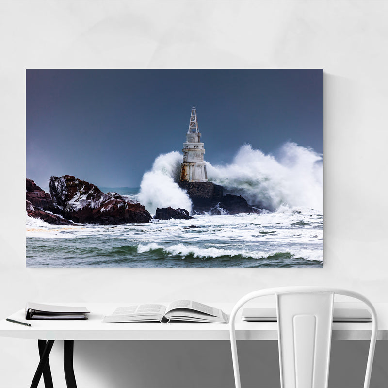 Sinemorets Bulgaria Lighthouse Metal Art Print