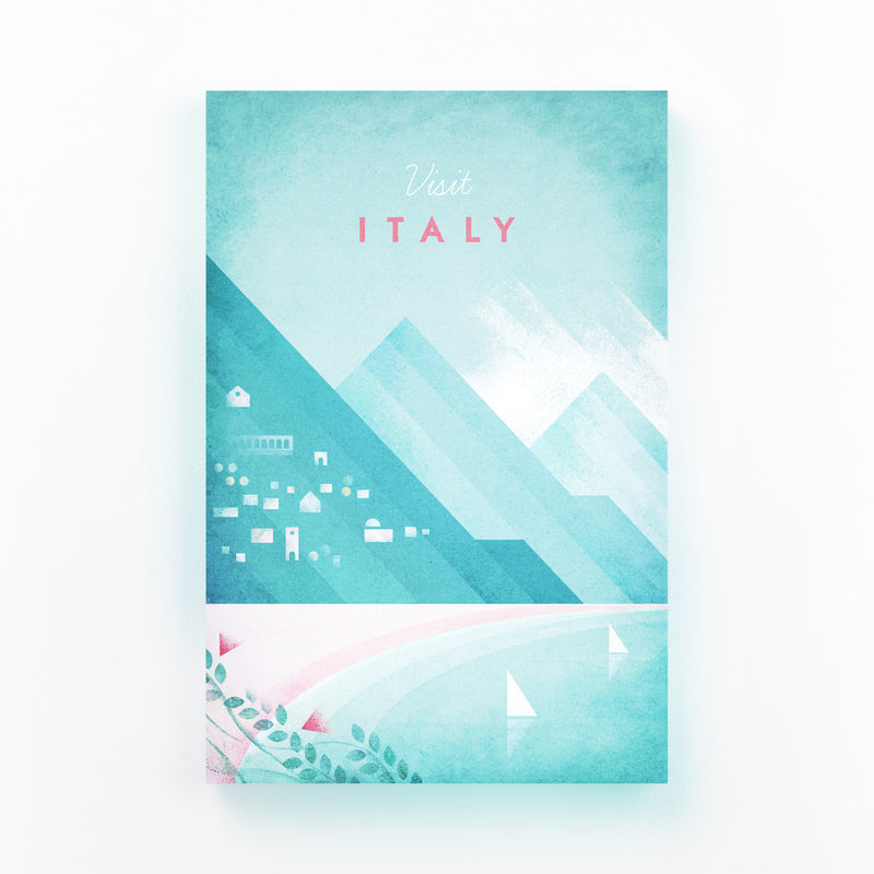 Minimal Travel Poster Italy Canvas Art Print