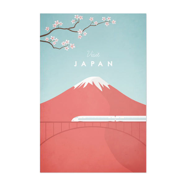 Minimal Travel Poster Japan Art Print