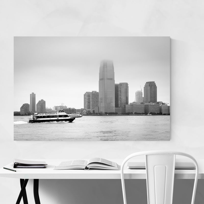 Jersey City Skyline View NYC Canvas Art Print