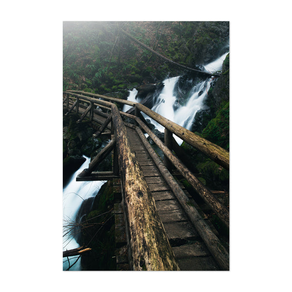 Columbia River Gorge Bridge Art Print