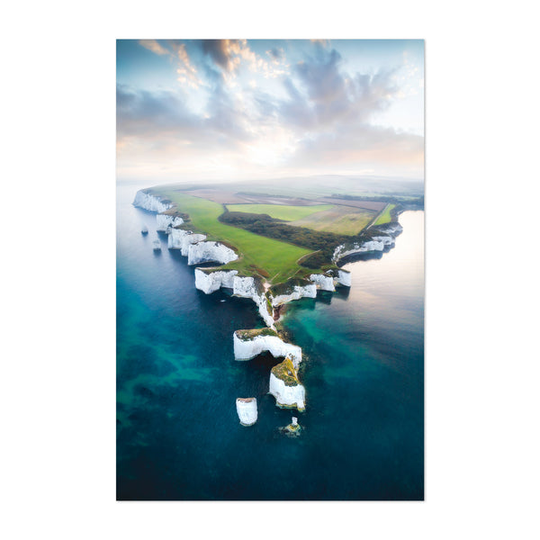 Jurassic Coast Cliffs England UK Art Print
