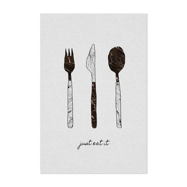 Kitchen Fork Knife Cooking Art Print