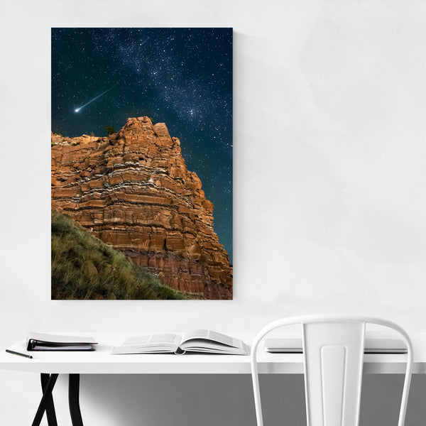 Night Sky Stars Desert Utah Art Print
