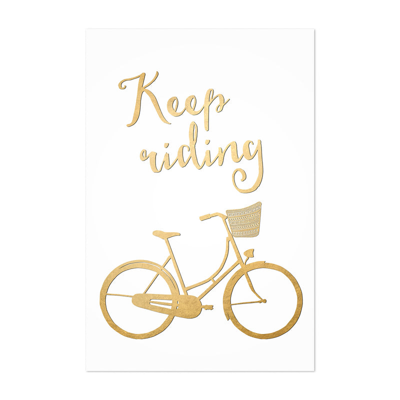 Bicycle Gold Inspirational  Art Print