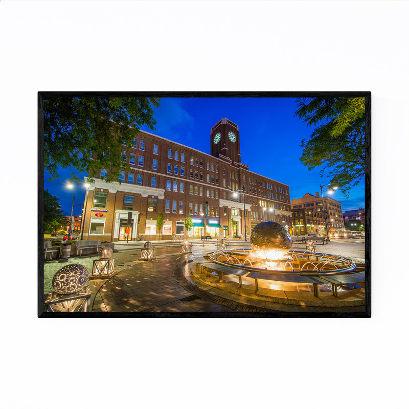 Cambridge Kendall Square Night Framed Art Print