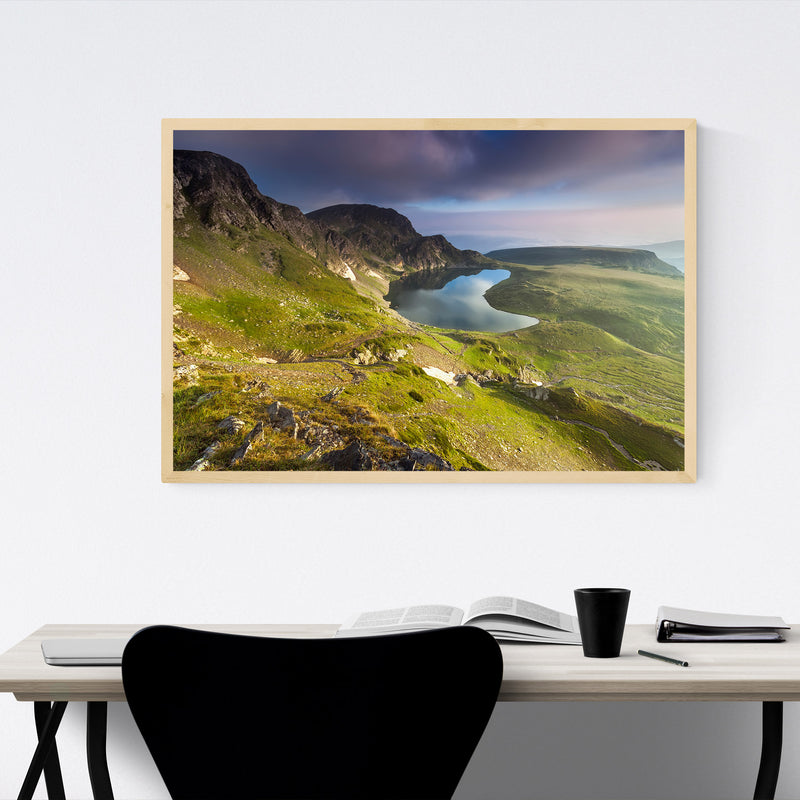 Bulgaria Mountain Lake Landscape Framed Art Print