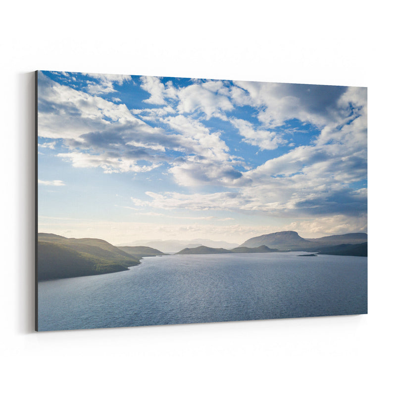 Lapland Finland Lake Landscape Canvas Art Print