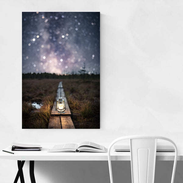 Milky Way Night Sky Finland Art Print