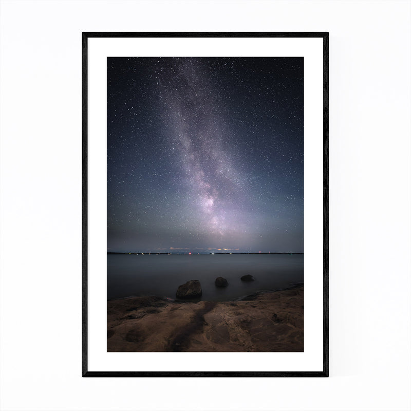 Milky Way Night Sky Finland Framed Art Print