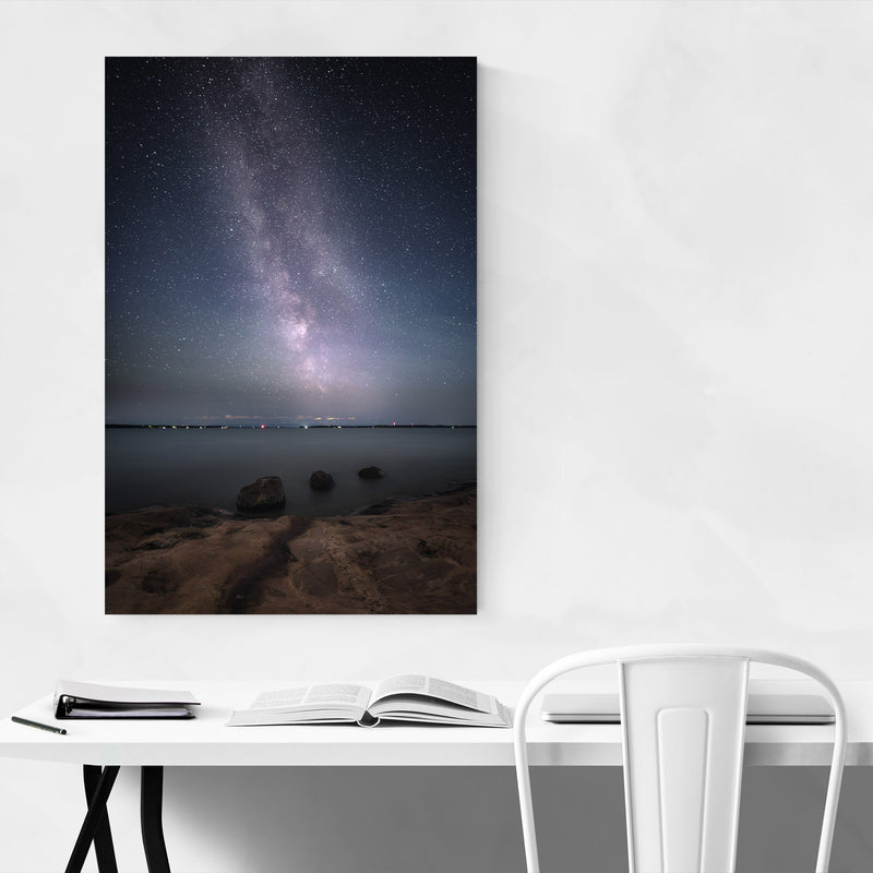 Milky Way Night Sky Finland Canvas Art Print