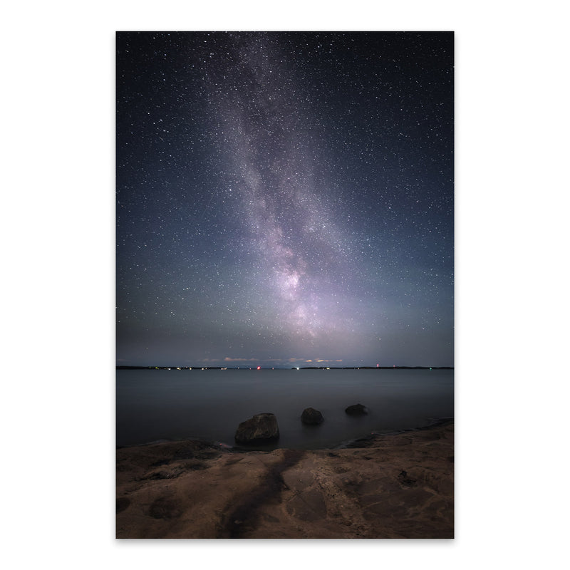 Milky Way Night Sky Finland Metal Art Print