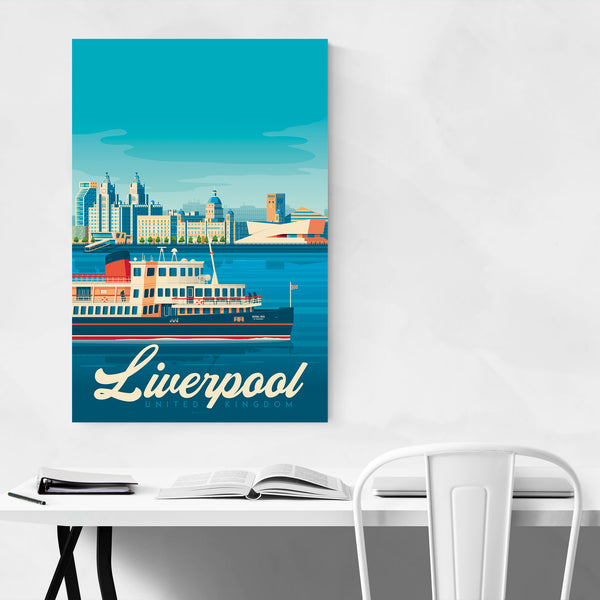 Vintage Liverpool Travel Print Art Print