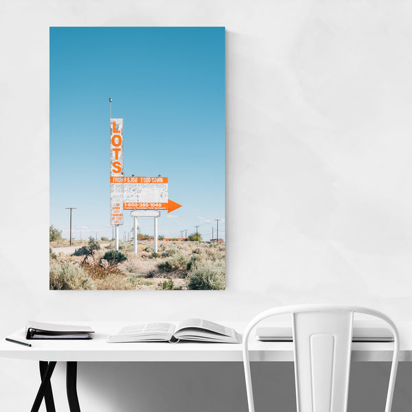 Lots Sign Salton Sea California Art Print