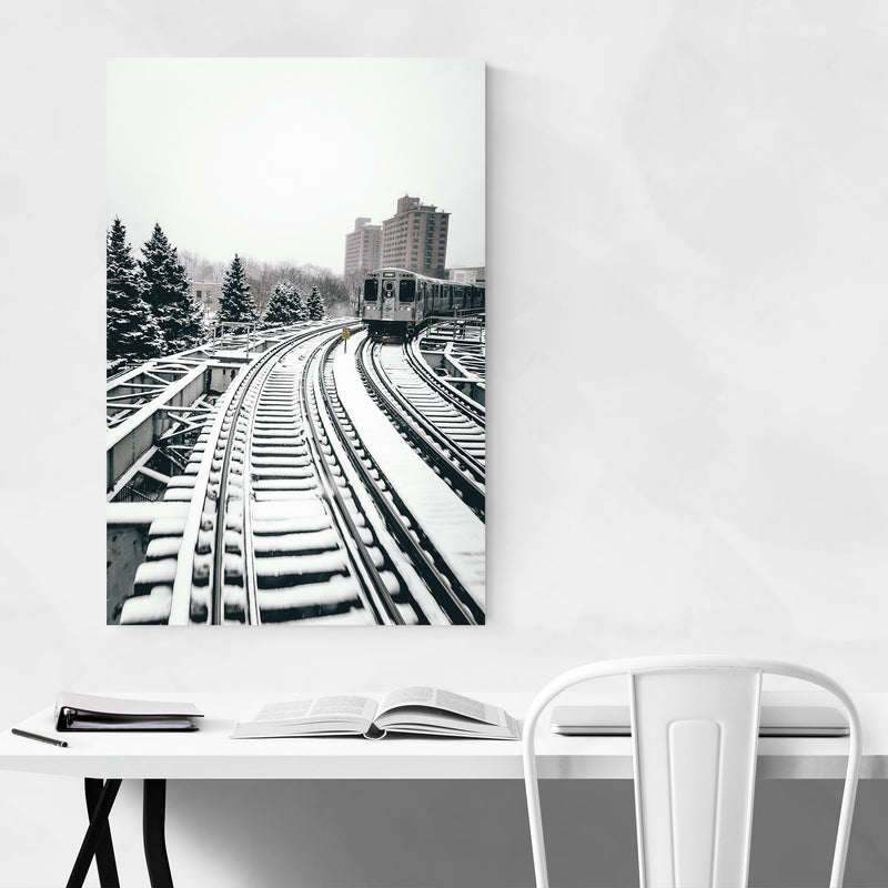 L Train Chicago Illinois Urban  Canvas Art Print