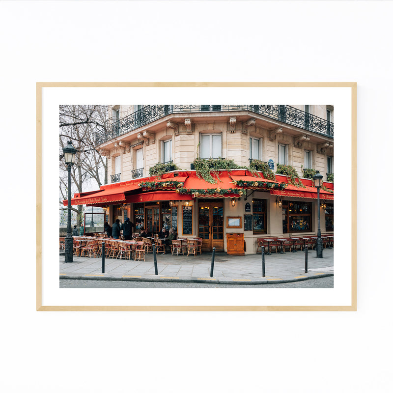 Brasserie Cafe Paris France  Framed Art Print