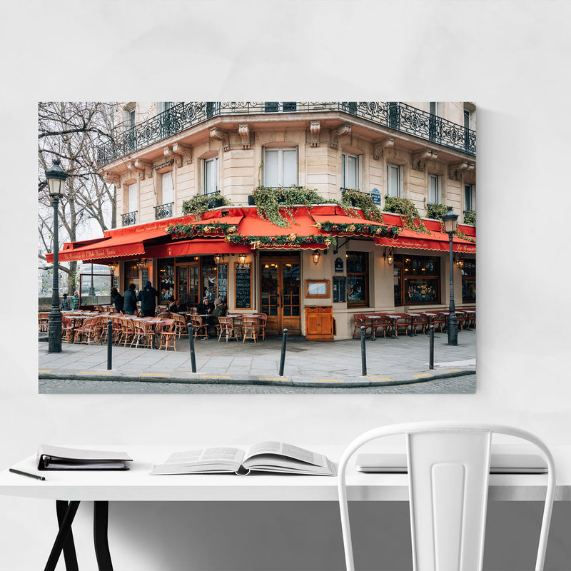 Brasserie Cafe Paris France  Metal Art Print