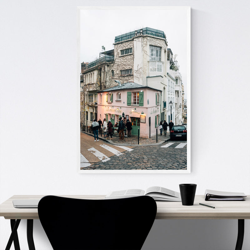 Montmartre Paris France Street Framed Art Print