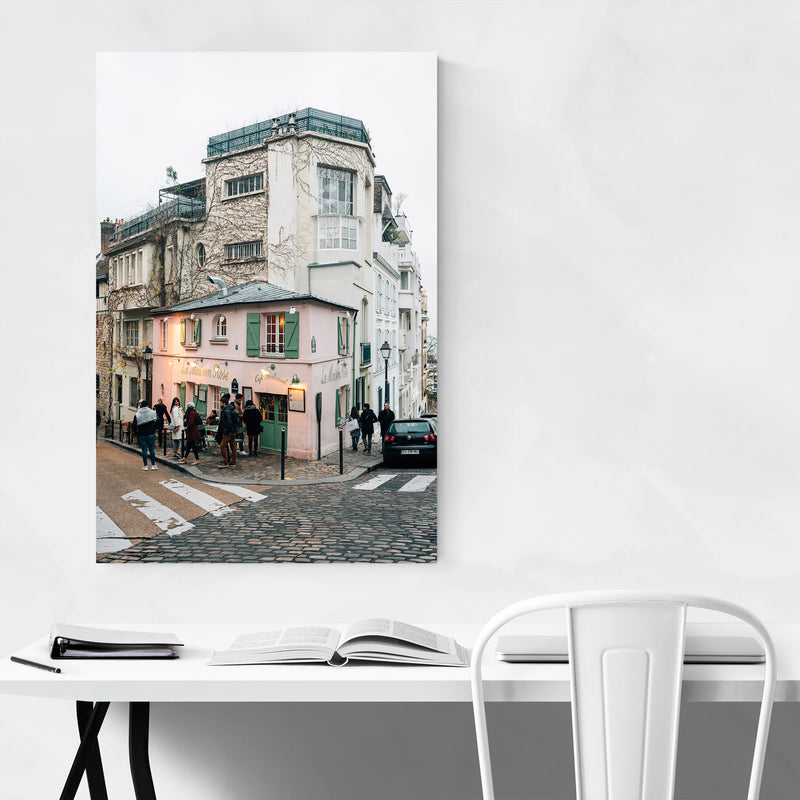 Montmartre Paris France Street Canvas Art Print