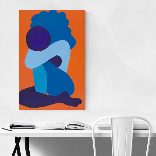 Abstract Afro Woman Painting Art Print