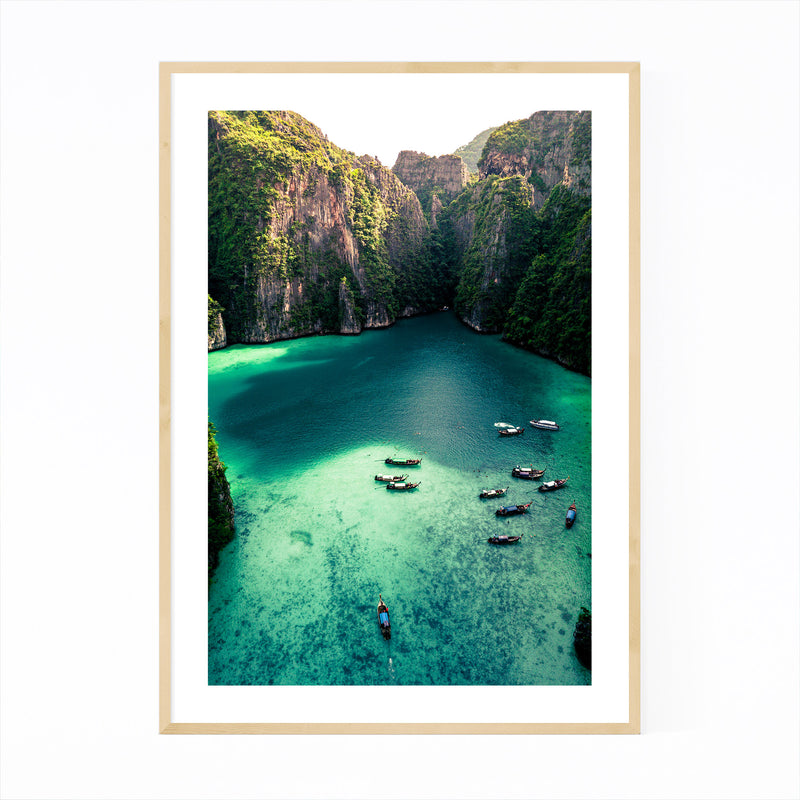 Phi Phi Thailand Beach Coastal Framed Art Print