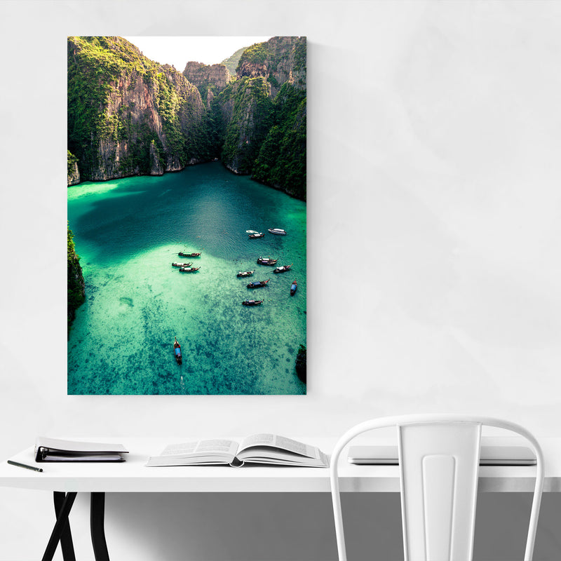 Phi Phi Thailand Beach Coastal Canvas Art Print