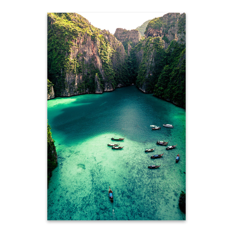Phi Phi Thailand Beach Coastal Metal Art Print