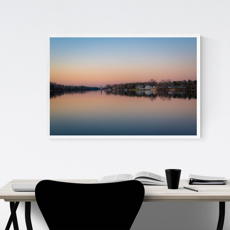 Mays Landing, New Jersey Lake Framed Art Print