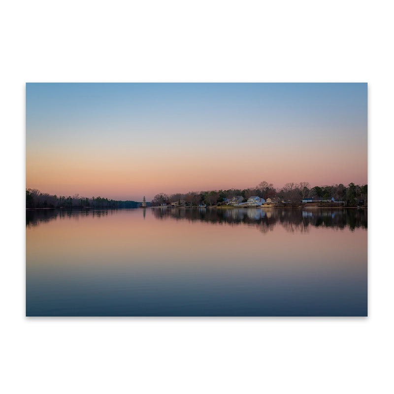 Mays Landing, New Jersey Lake Metal Art Print