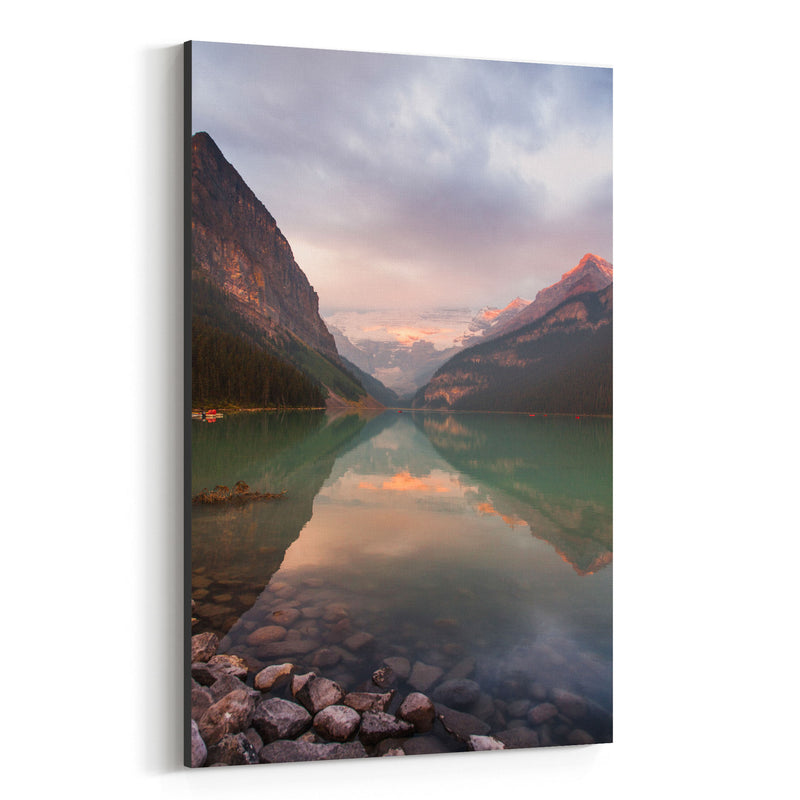 Lake Louise Banff Park Alberta Canvas Art Print