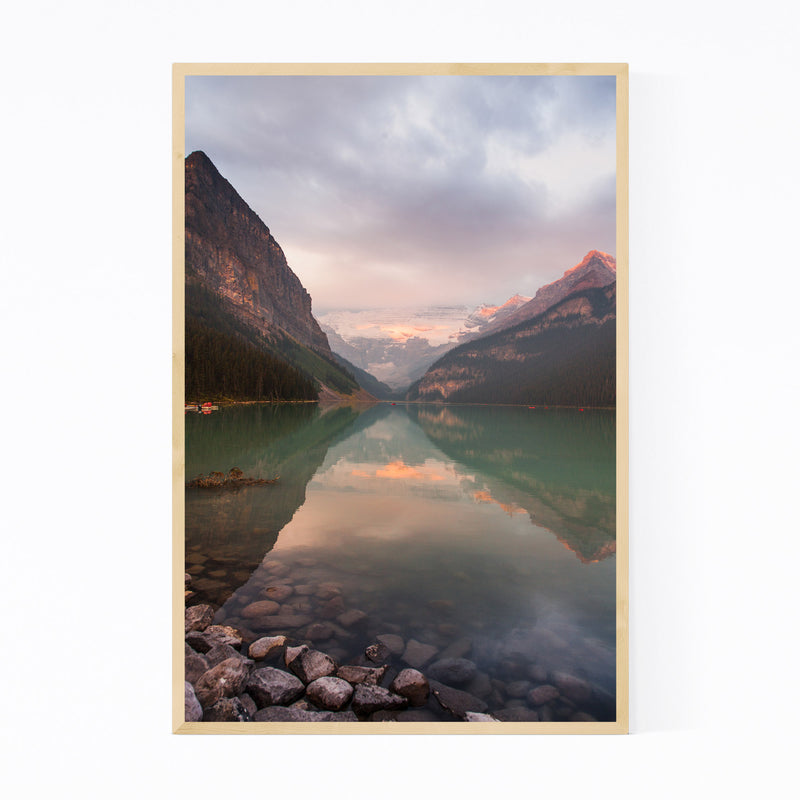 Lake Louise Banff Park Alberta Framed Art Print