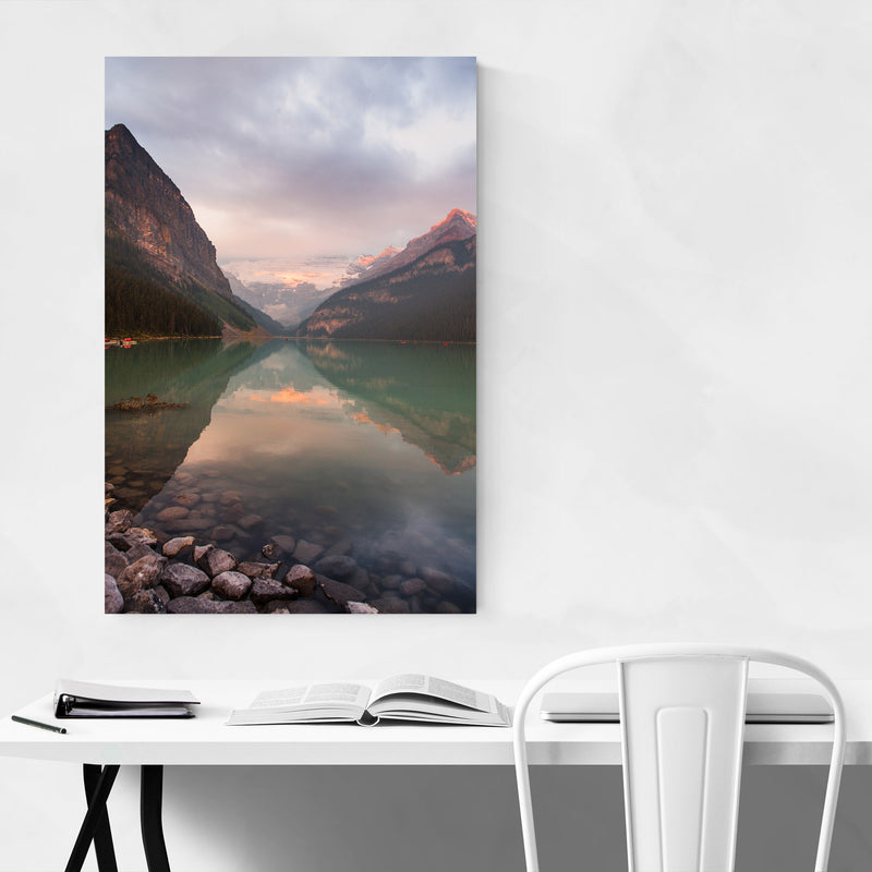 Lake Louise Banff Park Alberta Metal Art Print
