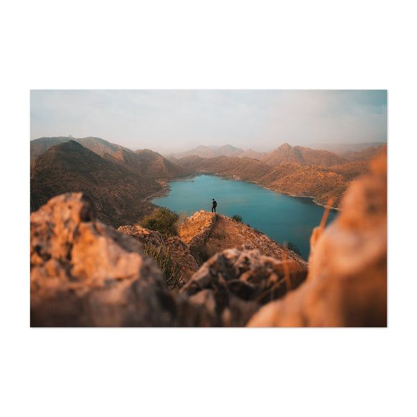 Udaipur India Mountain Climbing Art Print