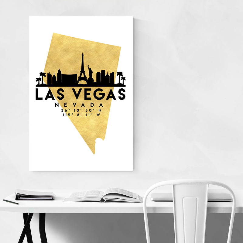 Minimal Las Vegas Skyline Canvas Art Print