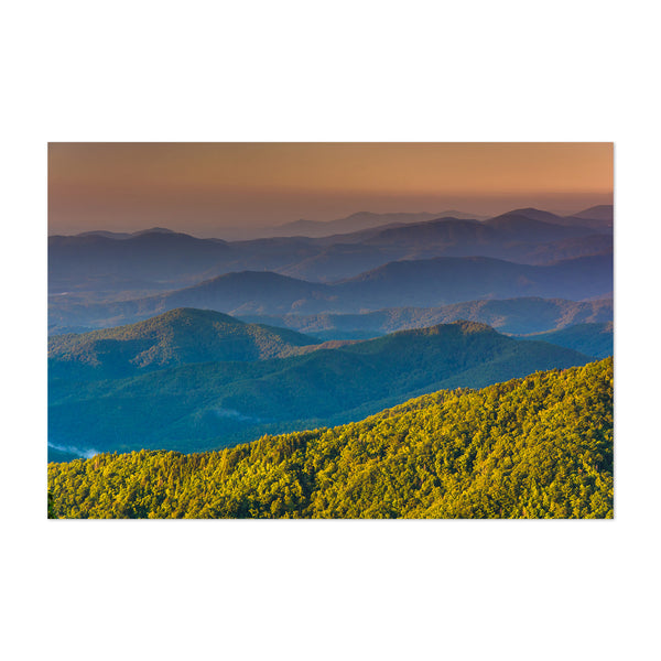Blue Ridge Mountains Landscape Art Print