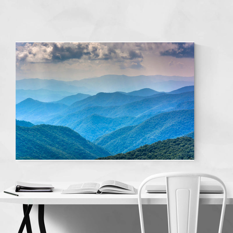 North Carolina Blue Mountains Metal Art Print